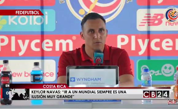 Keylor Navas, guardameta de la selección de Costa Rica